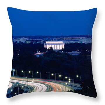 Traffic On The Road, Washington Throw Pillow by Panoramic Images