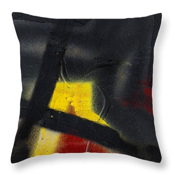 Train Art Abstract Throw Pillow by Carol Leigh