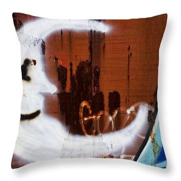Train Art Man In The Moon Throw Pillow by Carol Leigh