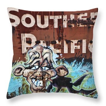 Train Art Swimming With Sharks Throw Pillow by Carol Leigh