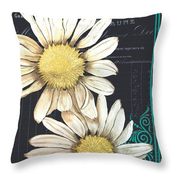 Tranquil Daisy 1 Throw Pillow by Debbie DeWitt