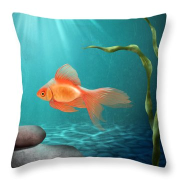 Tranquility Throw Pillow by April Moen