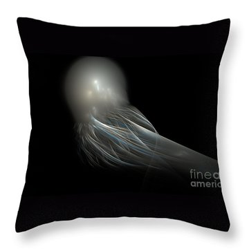 Transcendent Owl Throw Pillow by Peter R Nicholls