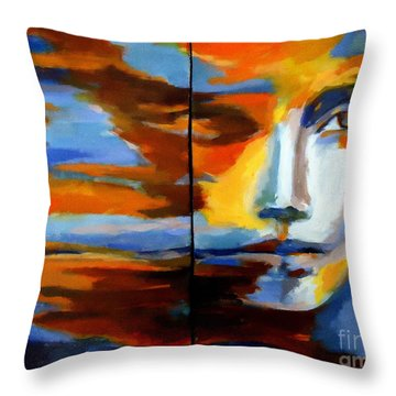 Transition - Diptic Throw Pillow by Helena Wierzbicki
