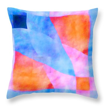 Translucence Number 3 Throw Pillow by Carol Leigh