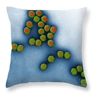 Trasmission Electron Micrograph Throw Pillow by Eye of Science