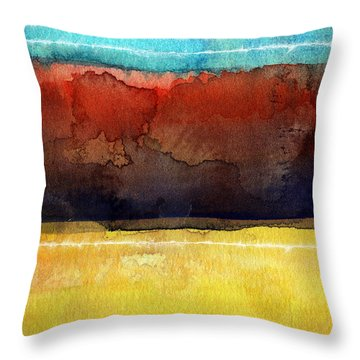 Traveling North Throw Pillow by Linda Woods
