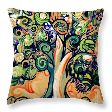 Tree Candy 2 Throw Pillow by Genevieve Esson