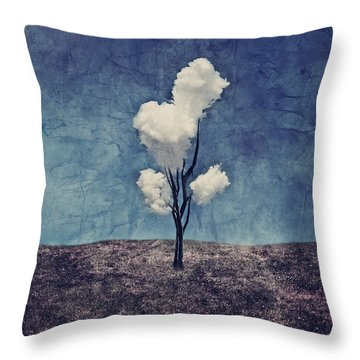 Tree Clouds 01d2 Throw Pillow by Aimelle