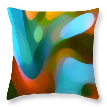 Tree Light 3 Throw Pillow by Amy Vangsgard