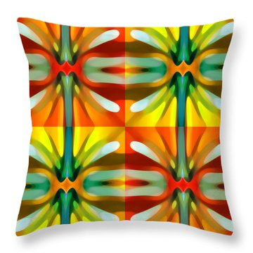 Tree Light Square Pattern Throw Pillow by Amy Vangsgard