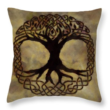 Throw Pillow Synonym : Tree Of Life Painting by Dan Sproul