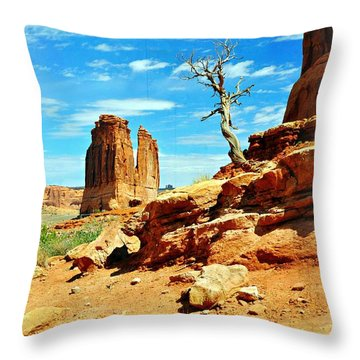 Tree On Park Avenue Throw Pillow by Marty Koch