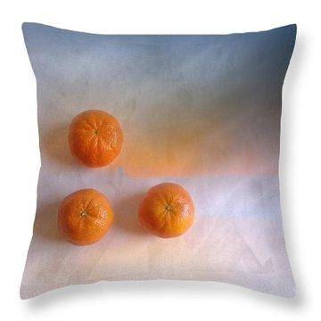 Tree Orange Throw Pillow by Veikko Suikkanen