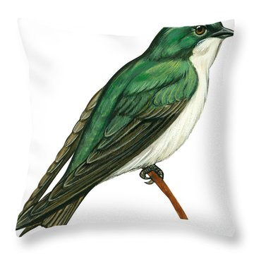 Tree Swallow  Throw Pillow by Anonymous