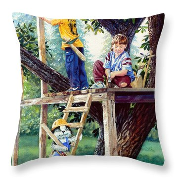 Treehouse Magic Throw Pillow by Hanne Lore Koehler