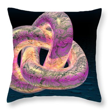 Trefoil Knot Throw Pillow by Carol and Mike Werner