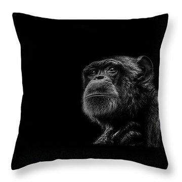 Trepidation Throw Pillow by Paul Neville
