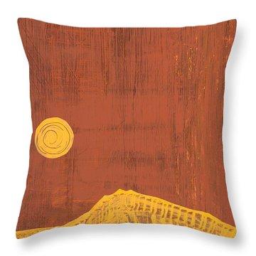 Tres Orejas Original Painting Throw Pillow by Sol Luckman