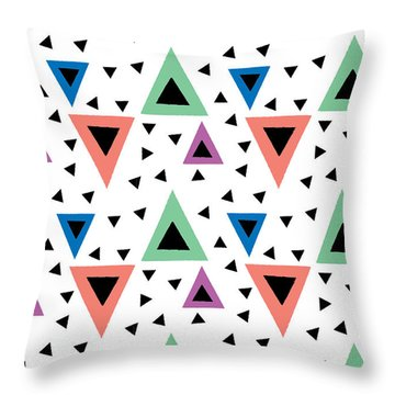 Triangular Dance Repeat Print Throw Pillow by Susan Claire