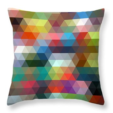 Triangulation 2 Throw Pillow by Taylan Apukovska