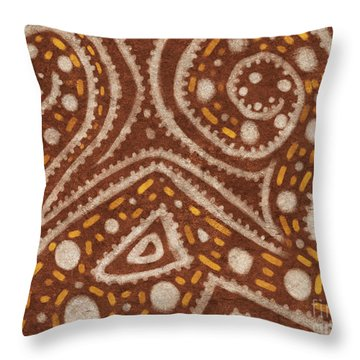 Tribal Painting Throw Pillow by Pixel Chimp