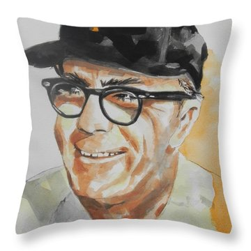 Tribute To Edward Logan My Grandfather  Throw Pillow by Chrisann Ellis