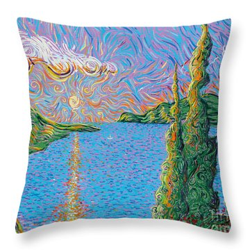 Trinity Lake 2 Throw Pillow by Stefan Duncan