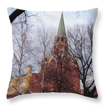 Trinity Tower At Dusk Throw Pillow by Anna Yurasovsky