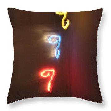 Triple Q. Dancing Lights Series Throw Pillow by Ausra Huntington nee Paulauskaite