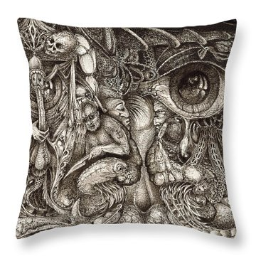 Tripping Through Bogomils Mind Throw Pillow by Otto Rapp