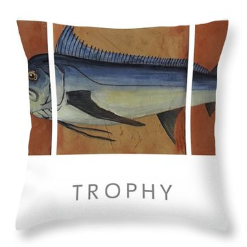 Trophy Throw Pillow by Andrew Drozdowicz