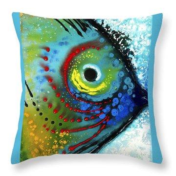 Tropical Fish - Art By Sharon Cummings Throw Pillow by Sharon Cummings
