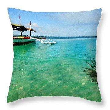 Tropical Getaway Throw Pillow by Lourry Legarde