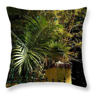 Tropical Invitation Throw Pillow by Susanne Van Hulst