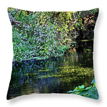 Tropical Throw Pillow by Kristin Elmquist