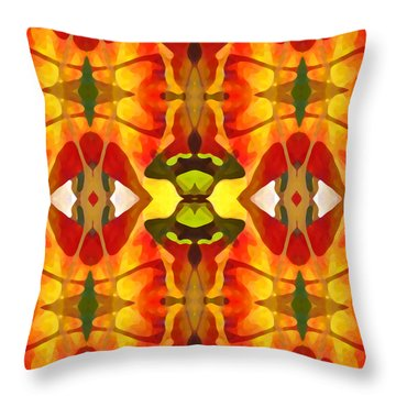Tropical Leaf Pattern 4 Throw Pillow by Amy Vangsgard