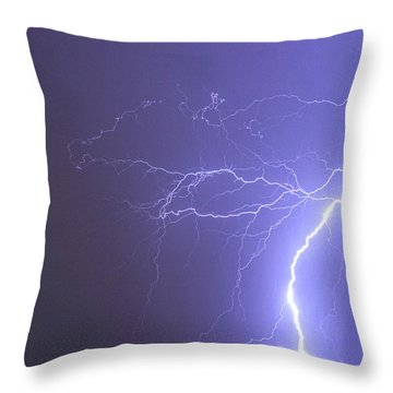 Tropical Thunderstorm Night  Throw Pillow by James BO  Insogna