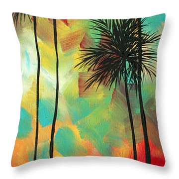 Tropics By Madart Throw Pillow by Megan Duncanson