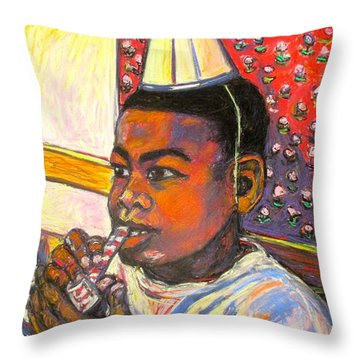 Troy Throw Pillow by Kendall Kessler