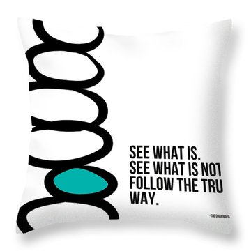 True Way Throw Pillow by Linda Woods