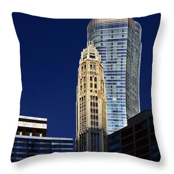 Trump International Hotel And Tower Chicago Throw Pillow by Christine Till