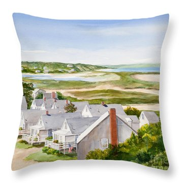Truro Summer Cottages Throw Pillow by Michelle Wiarda