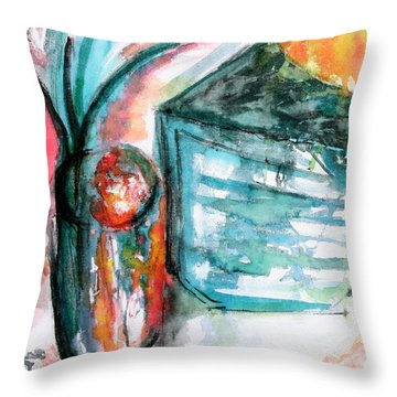 Tuesday Afternoon Throw Pillow by Lyndsey Hatchwell
