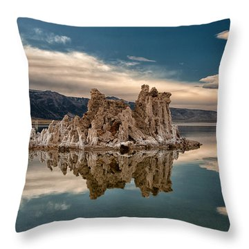 Tufa Reflections Throw Pillow by Cat Connor
