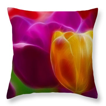 Tulip-7011-fractal Throw Pillow by Gary Gingrich Galleries