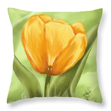 Tulip Throw Pillow by Veronica Minozzi