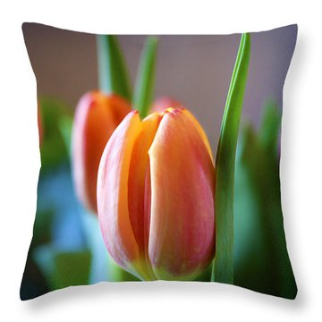 Tulips Artistry Throw Pillow by Milena Ilieva
