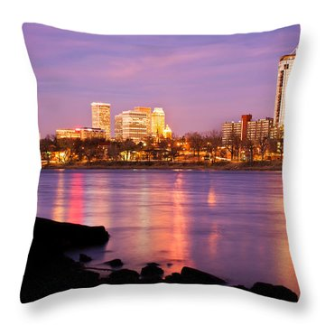 Tulsa Oklahoma - University Tower View Throw Pillow by Gregory Ballos