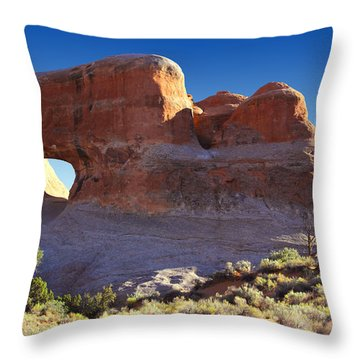 Tunnel Arch - Arches National Park Throw Pillow by Mike McGlothlen